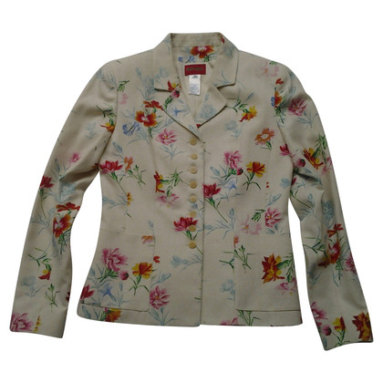 Kenzo Silk Blazer with floral pattern