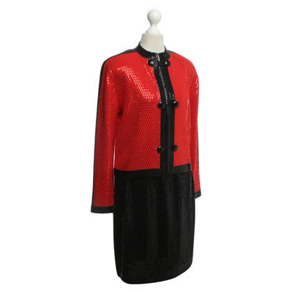 Other Designer St. John - costume in red/black