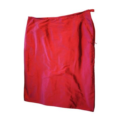 Armani Collezioni Zijde kokerrok in het rood