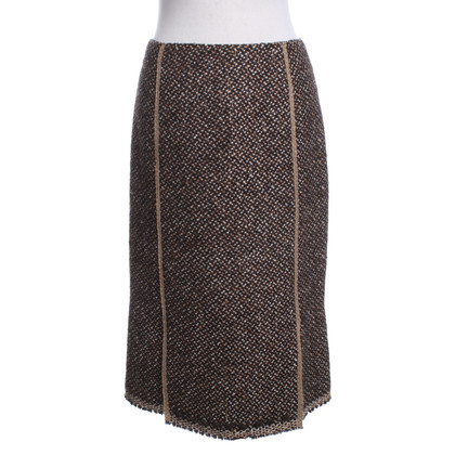 Prada Wollen rok in bruin