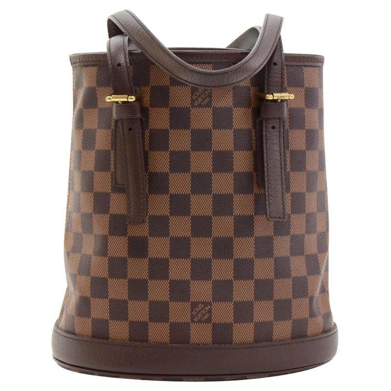 louis vuitton marais ebene damier bucket bag second hand louis vuitton marais ebene damier. Black Bedroom Furniture Sets. Home Design Ideas