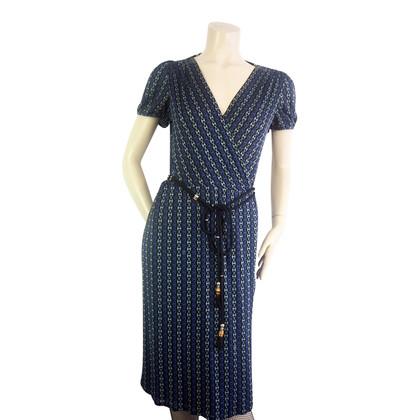 Gucci Blue print wrap dress