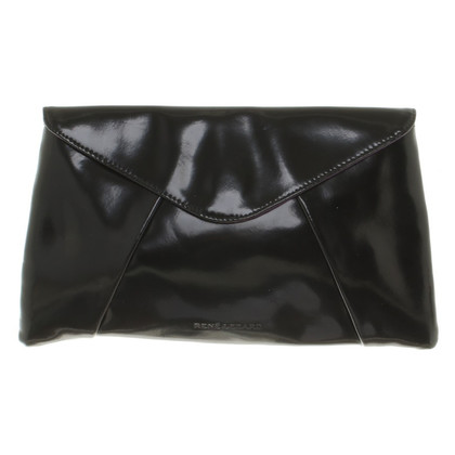 René Lezard clutch in nero