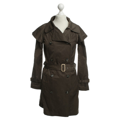 Moschino Love Trenchcoat in olijfolie