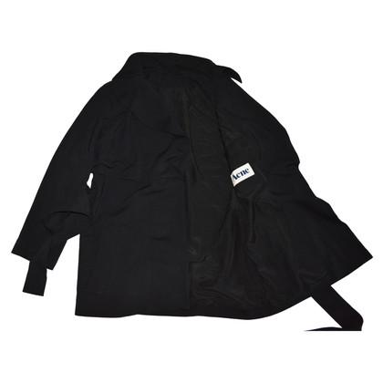 Acne Dunkler Mantel mit Gürtel