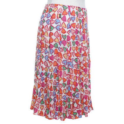 Moschino skirt with heart motifs