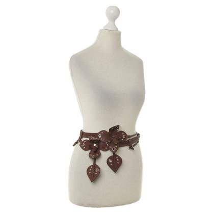 Miu Miu Belt with Brown flowers