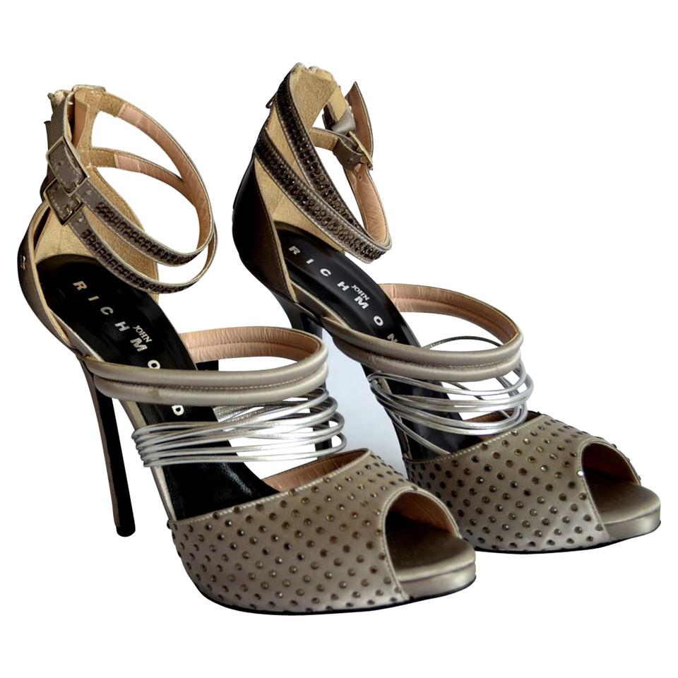 richmond sandaletten mit strasssteinen second hand. Black Bedroom Furniture Sets. Home Design Ideas