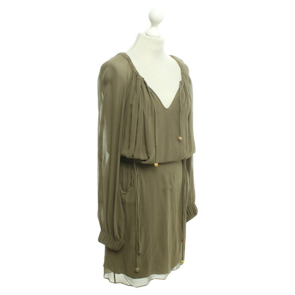 Emanuel Ungaro Olive silk dress
