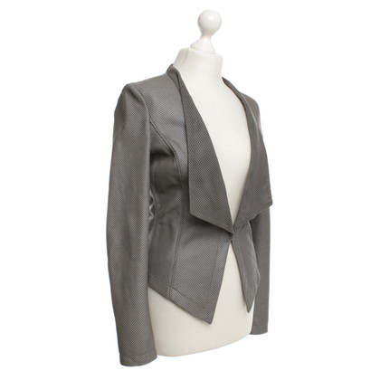 Guido Maria Kretschmer Lambskin blazer in gray