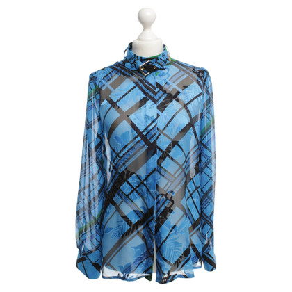 Preen Blouse with plaid pattern