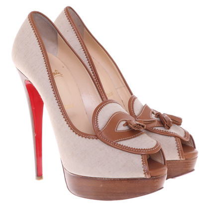 Christian Louboutin Peeptoes in beige