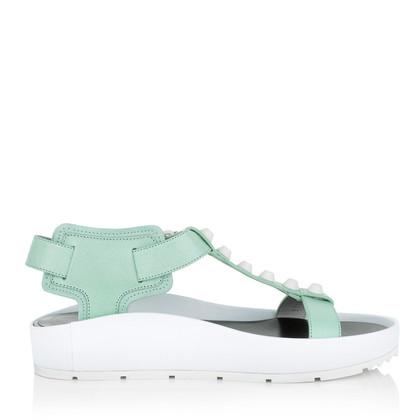 Balenciaga Sandals Classic Strap T Bar Chlorophylle