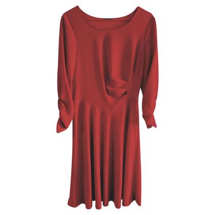 Donna Karan Abito di seta in rosso