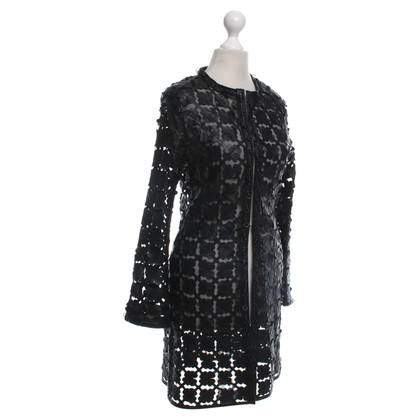 Caban Romantic Coat in black