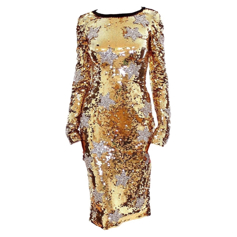 Dolce & Gabbana Dress with gold sequins
