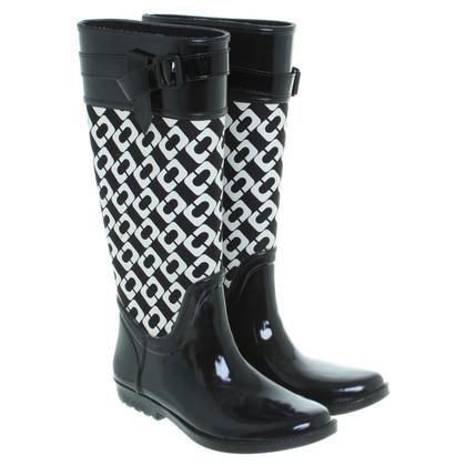 Diane von Furstenberg Rain boots in black/white
