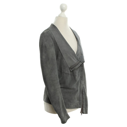 Muubaa Suede leather jacket in grey