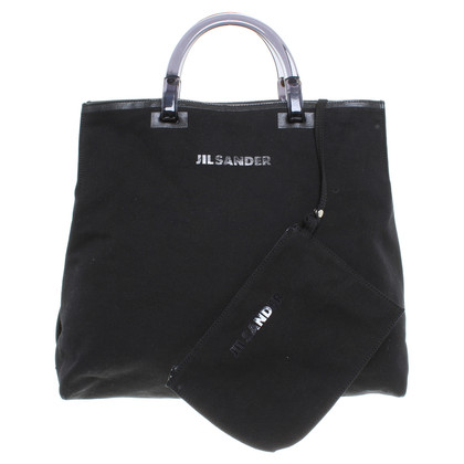Jil Sander Linen bag in black