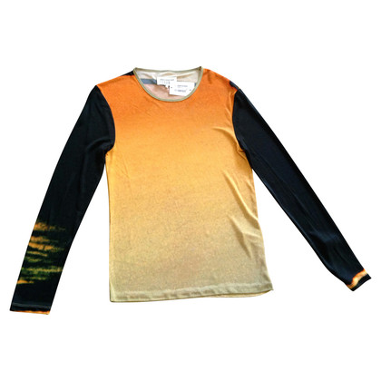 Maison Martin Margiela Long-sleeved shirt in orange/black