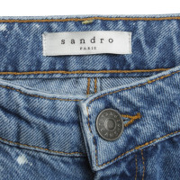 Sandro High Waist Jeans in Blue