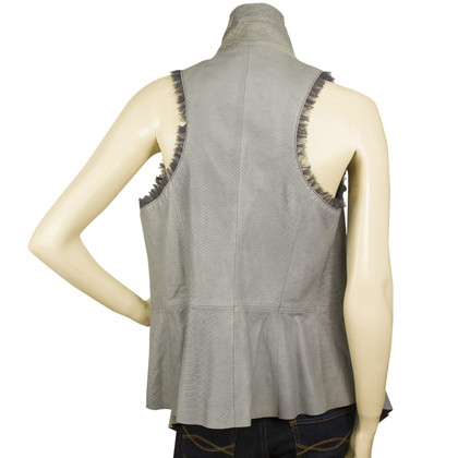 Catherine Malandrino Gray Leather vest