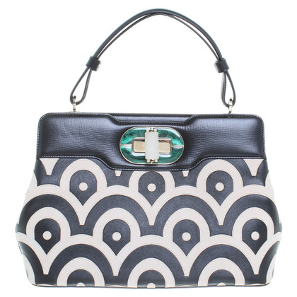 Bulgari Patterned leather handbag