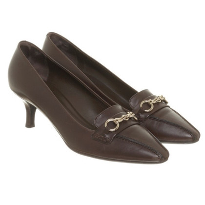 Bally Dunkelbraune Pumps