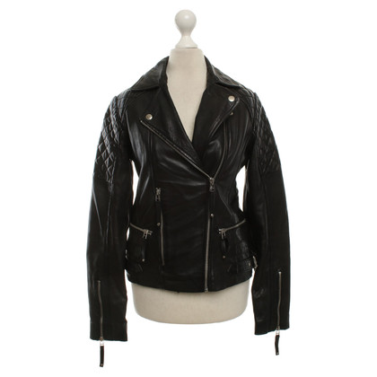 Whistles Leather jacket in black