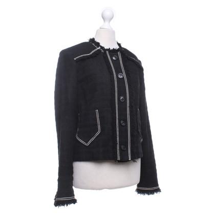 Isabel Marant Etoile Jas in zwart / wit