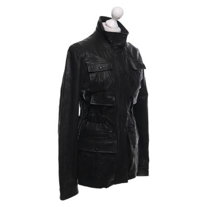 Chanel Giacca di pelle nera