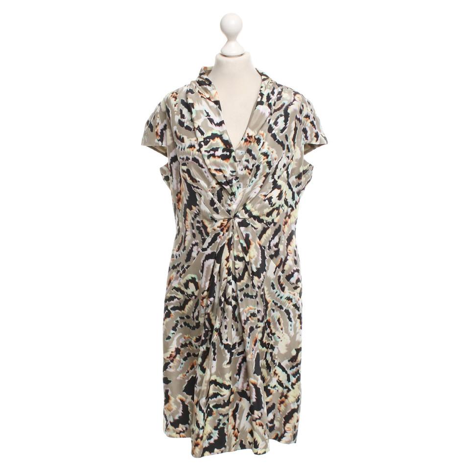 Boss Orange Kleid aus Seide mit Muster-Print