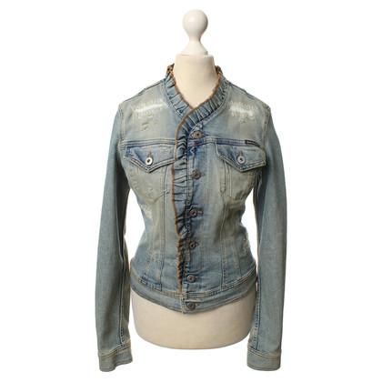 Dolce & Gabbana Giacca di jeans in look usato
