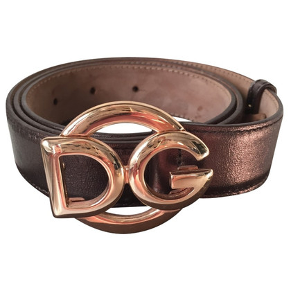 Dolce & Gabbana Bronze leather belt