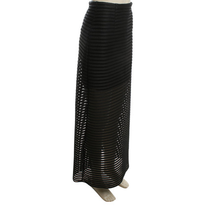 Maje Long skirt with hole pattern