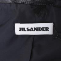 Jil Sander Schwarzer Blazer aus Leder