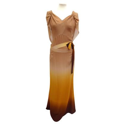 Christian Dior abito di seta pavimento-lunghezza