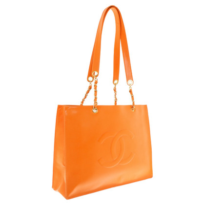 Chanel Shoppers in Orange