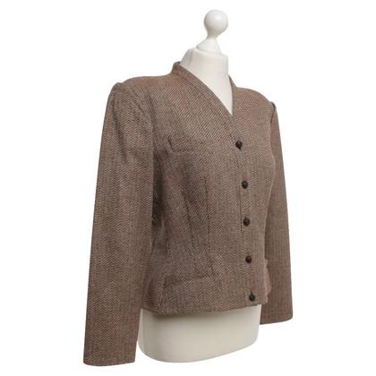 Mugler Boucle marrone blazer