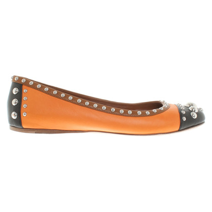 Prada Ballerinas in brown / orange / black