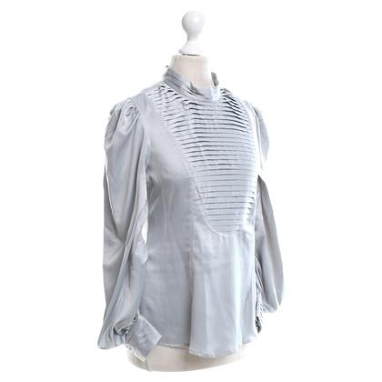 Calvin Klein Seidenbluse in Grau