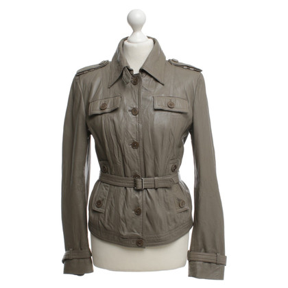Drykorn Leather Jacket in Gray