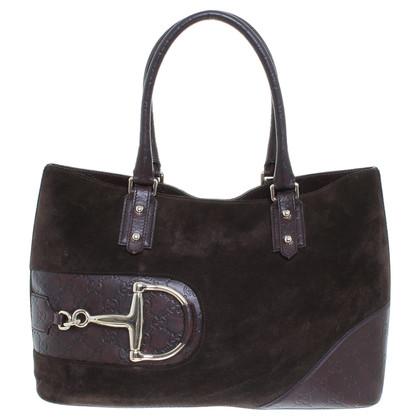 Gucci Dark brown suede handbag