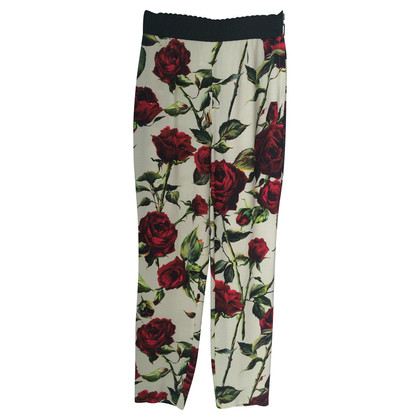 Dolce & Gabbana Pants with rose pattern
