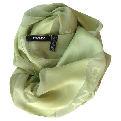 DKNY viscose and silk scarf