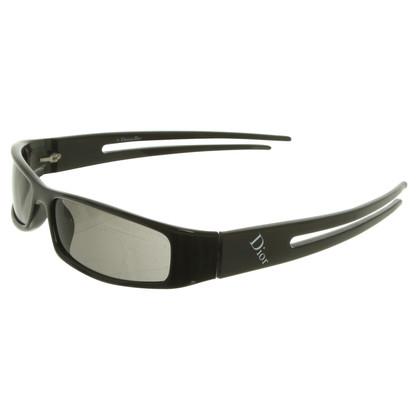 Christian Dior Schmale Sonnenbrille in Schwarz