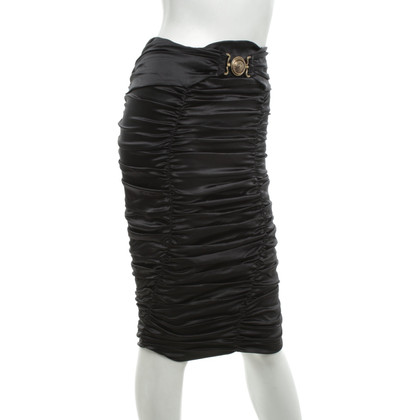 Roberto Cavalli Silk skirt in black