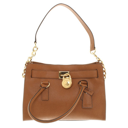 "Michael Kors ""Hamilton Satchel"" a Brown"