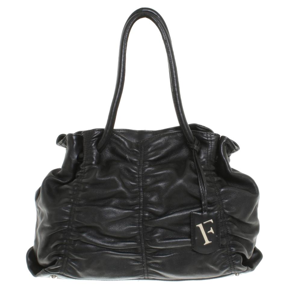 furla handtasche in schwarz second hand furla handtasche in schwarz gebraucht kaufen f r 150. Black Bedroom Furniture Sets. Home Design Ideas