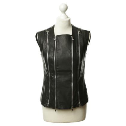 Andere Marke Lederweste mit Zipper-Details